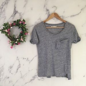 Madewell Hi-Line Zip Pocket Tee Shirt